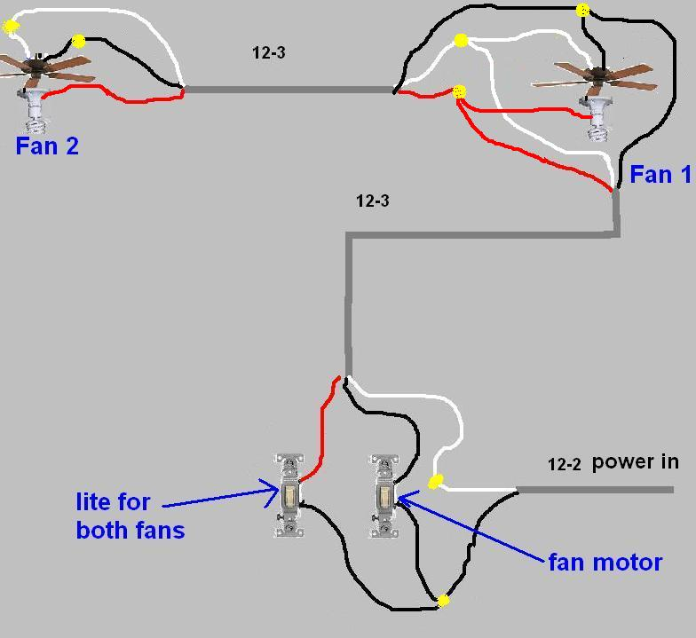 trying to connect 2 ceiling fans to 1 switch - electrical ... wiring diagram for hydraulic switches fan 2wire diagram for light switches #11