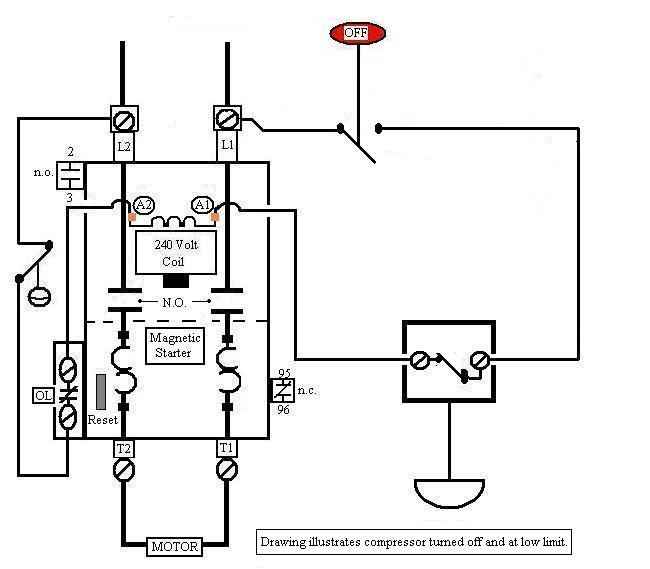 15553d1261073268 older air compressor wiring help 2 wire motor starter control air compressor wiring diagram quincy air compressor wiring diagram air compressor starter wiring diagram at bayanpartner.co