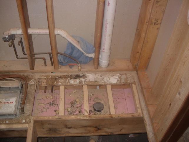 Rerouting Shower Drain For Bathtub Plumbing Diy Home