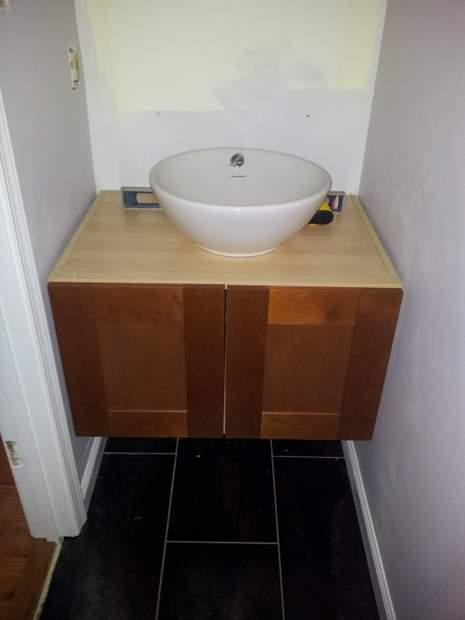 Diy Floating Vanity Cabinet. How to build attach wall hung bathroom vanity 20111228 145533 jpg  To Build Wall Hung Bathroom Vanity Carpentry DIY