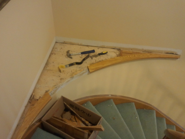 Need help on how to finish curved corner stair island-2012-05-26-11.08.00.jpg