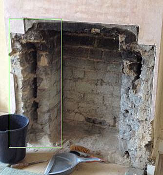 Fireplace Rebuilding In 1930s House Building
