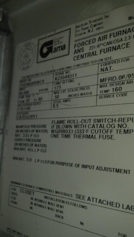 Trane Furnace Won't Ignite - HVAC - DIY Chatroom Home Improvement Forum