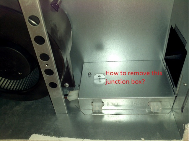 How Does This Bathroom Exhaust Fan Junction Box Cover Come ...