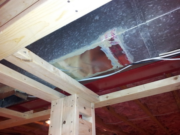 How To Extend Hvac Ceiling Vent Through New Soffit Hvac
