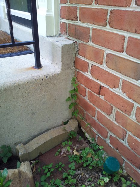 Dirt erosion underneath concrete front steps, fill with gravel?-20120709_165226.jpg
