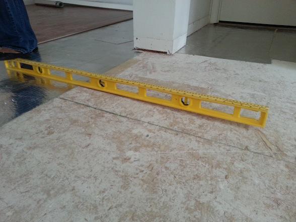 2nd Floor Not Level For Laminate Installation Flooring Diy