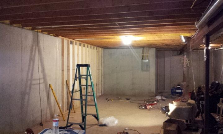 my basement project framing remodeling diy chatroom home rh diychatroom com Flooded Basement Your Basement