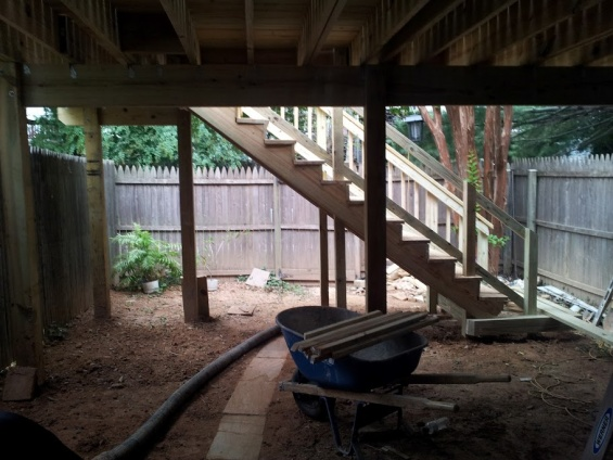 Installing underground drainage for gutters-20120917_180524.jpg
