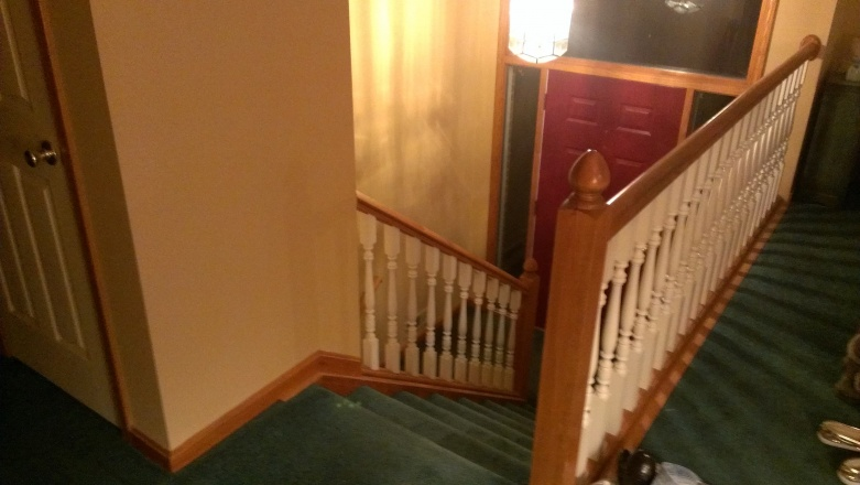 Have a railing project to do; split foyer home.-2013-03-07-18.57.11.jpg