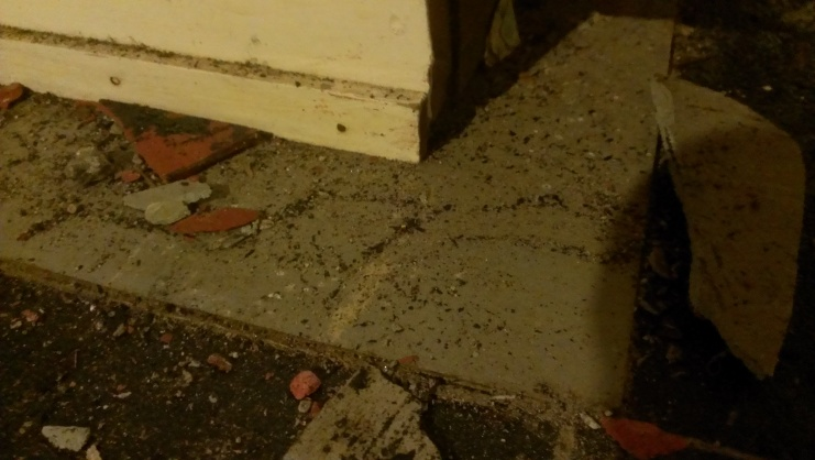 Asbestos Tile Removal Contractor Obliterated The Tile-Now What?-2013-07-26-23.58.13.jpg