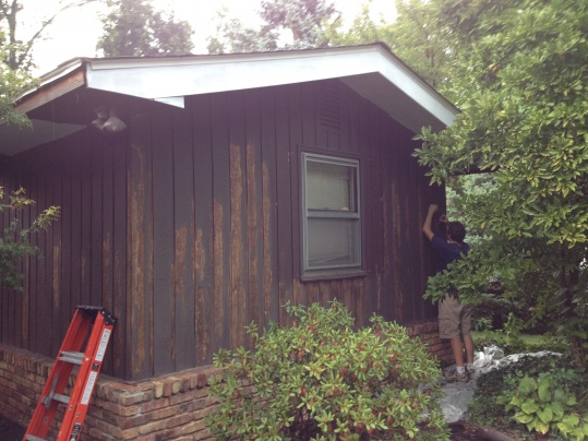 Painting Cedar Siding - Sanding the paint and wood-2013-08-31-16.44.34.jpg