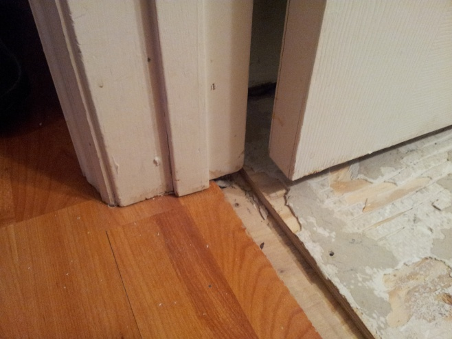 how to work out threshold/transition between laminate/tile-20130504_195352.jpg