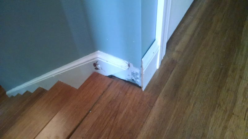 How should I match this trim from the stairs to the baseboard?-2014-06-19-07.47.18.jpg