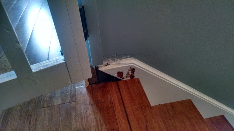 How should I match this trim from the stairs to the baseboard?-2014-06-19-07.47.27.jpg