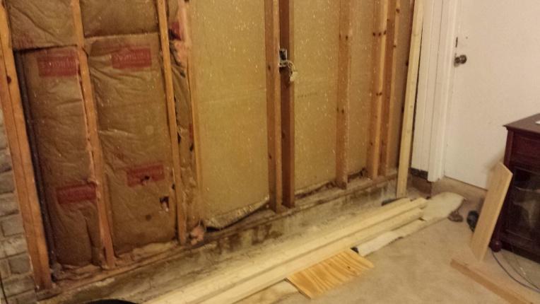 Framing Floor To Ceiling Sunken Living Room Carpentry Diy