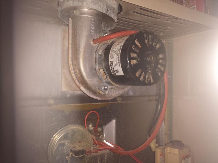 Lenox furnace exhaust blower motor replace hvac diy for Furnace exhaust blower motor