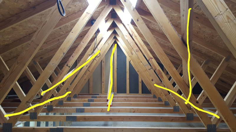Removing Bracing Studs From Attic Trusses Building