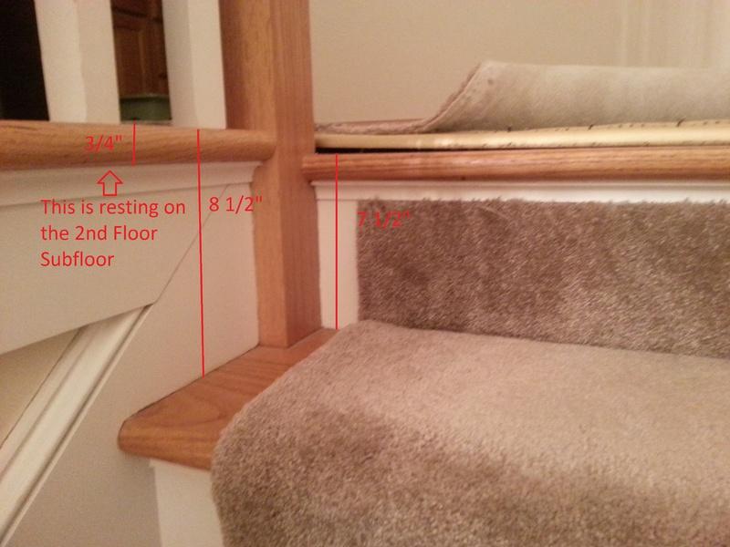 Wood Floor Installation At Top Of Stairs 20170114 185711 Copy Jpg