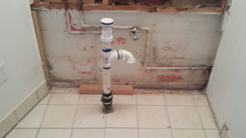 Installing A Pedestal Sink With In Floor Drain 20150222_132925 ...