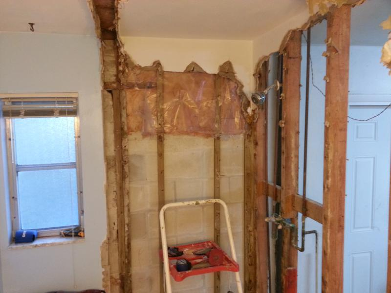 Bathroom Remodel Old Plaster Walls With New Substrate