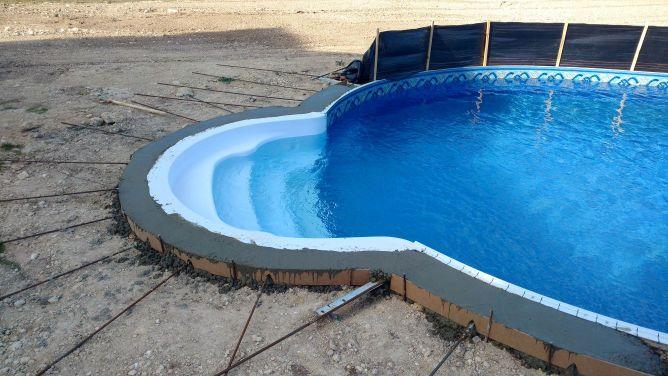 new pool coping installation - concrete, stone & masonry - diy