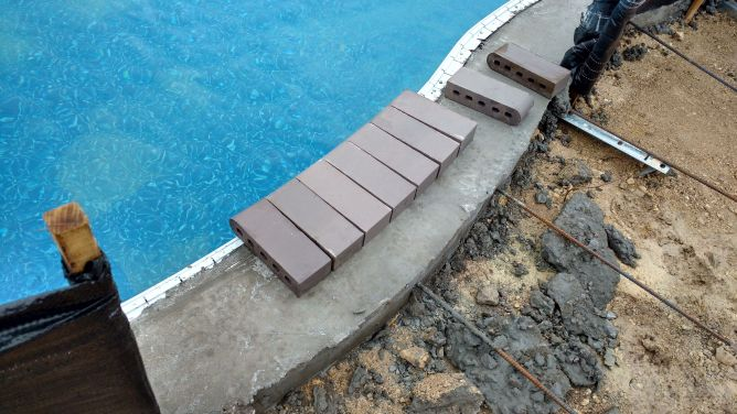 New Pool Coping Installation Concrete Stone Amp Masonry