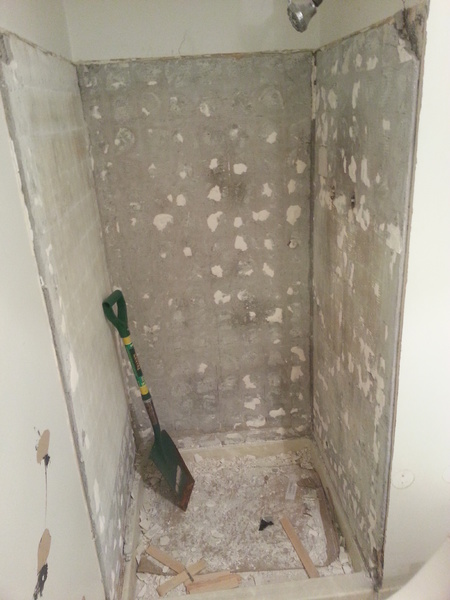 Replacing Shower Tile... Can I Reuse Cement Backing Over Wire Mesh ...