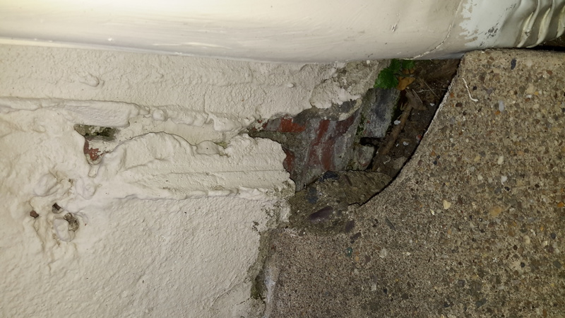... How To Seal Holes Where Stucco Wall Meets Concrete Patio 20160525_194030  ...