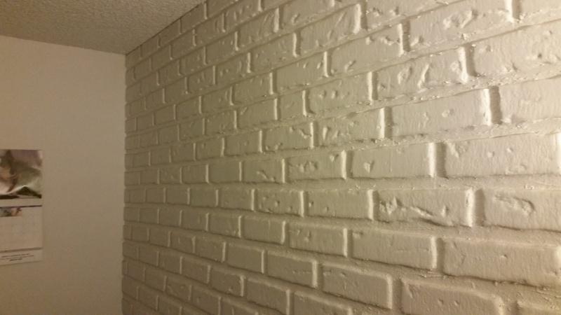 Faux Brick Wall On Drywall Drywall Plaster Diy