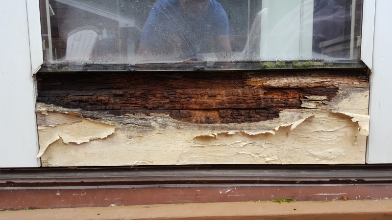 Moisture Damage To Pella Sliding Glass Door Windows And