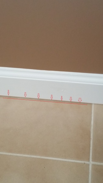 What To Do With Small Gap Between Baseboard And Tile Tiling