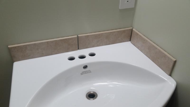Add A Small Tile Backsplash On Bathroom Vanity Sink Diy Home Improvement Forum
