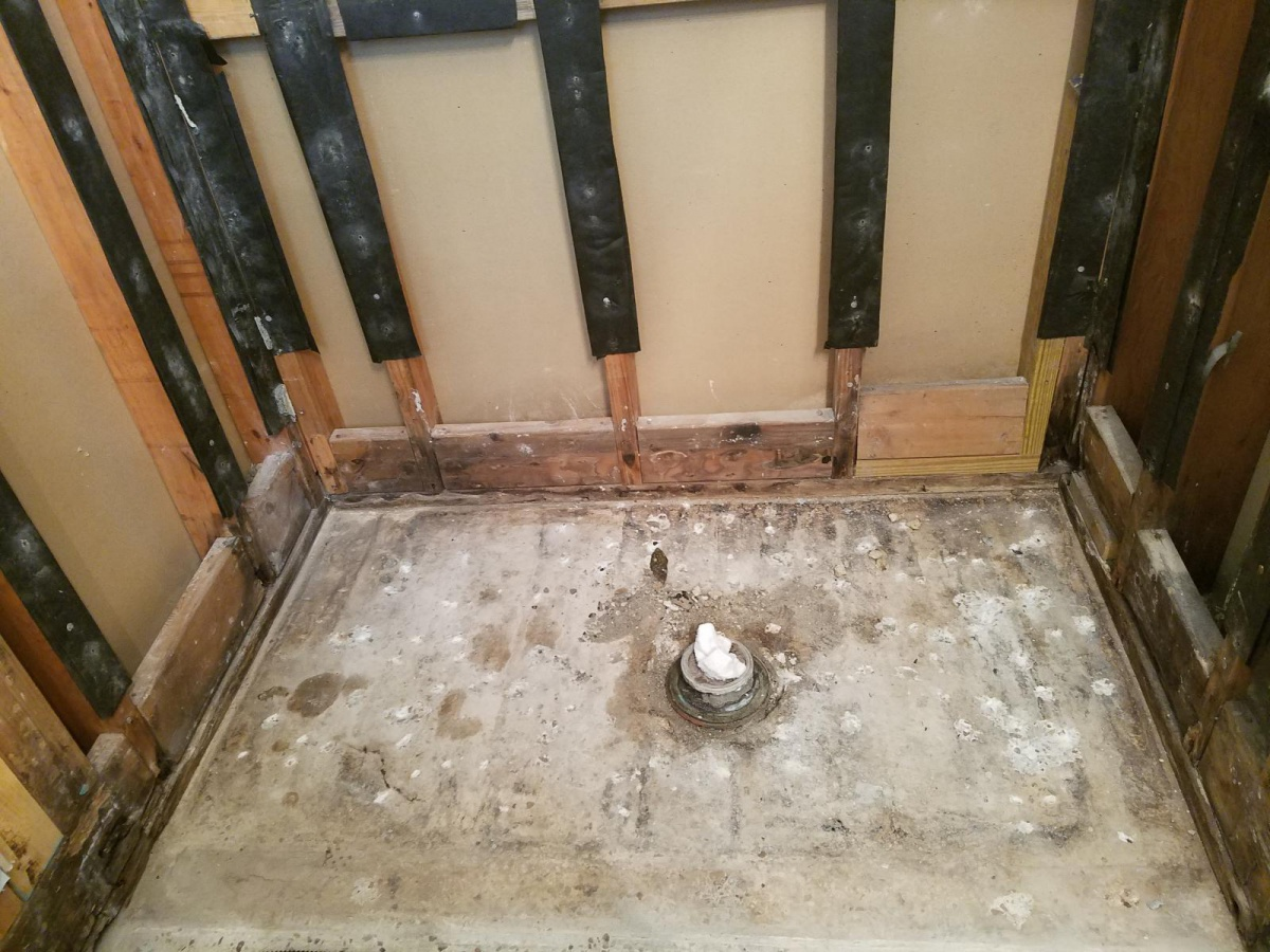 Old Cast Iron Shower Drain Replacement Plumbing Diy Home