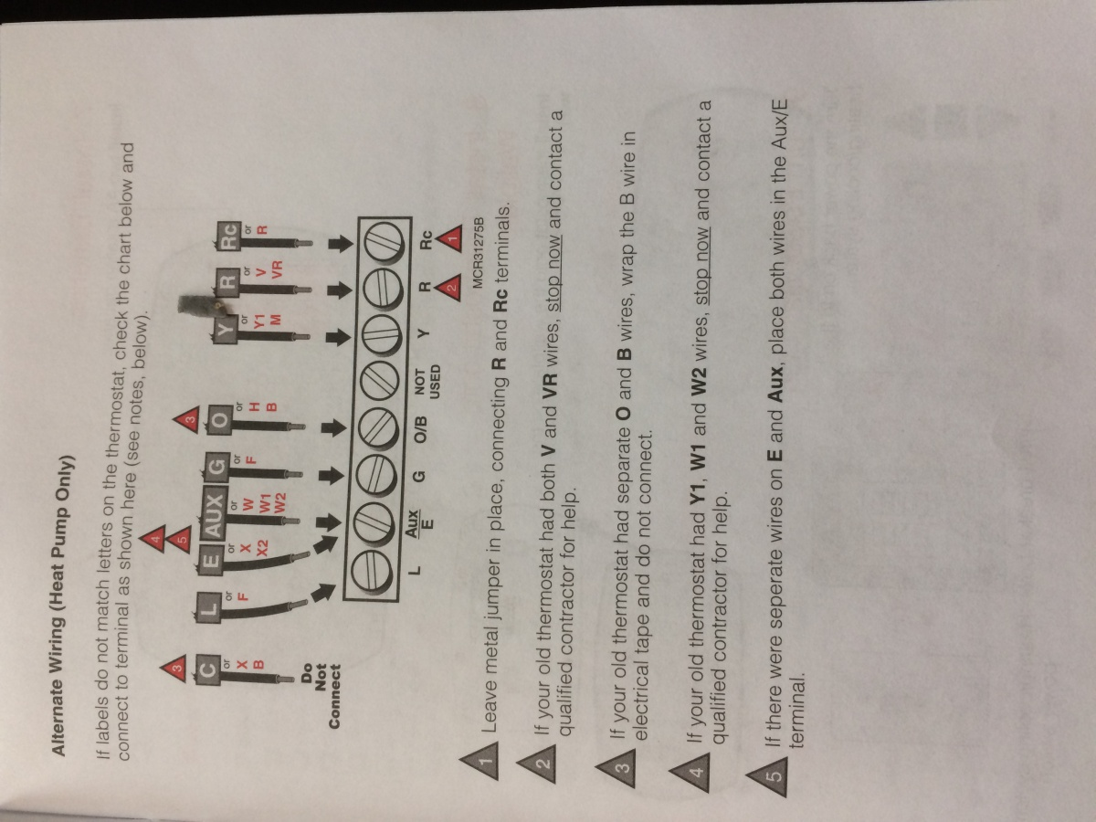 Replacing Weatherton Two Stage Thermostat Wiring Bookmark About Images Gallery Did I Wire This Correctly Hvac Diy Chatroom Home Rh Diychatroom Com