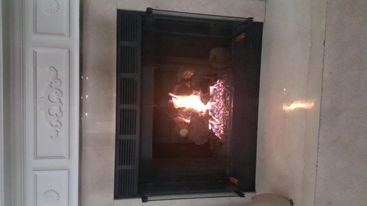 Gas Fireplace Black Soot On Mantle Area Hvac Diy
