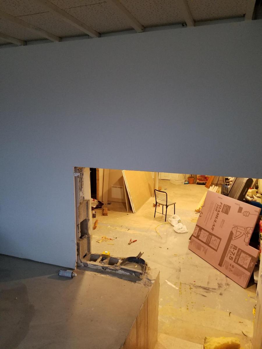 Removing block wall sections and using header at rim board-20180408_183742_1523232093716.jpg