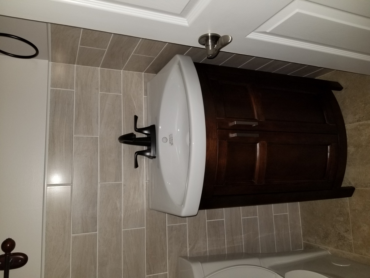 Install Vanity On Tiled Wall, No Stud Behind - Kitchen