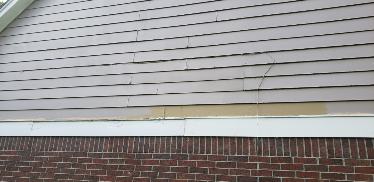 Siding Sheathing To Brick Transition - Roofing/Siding - DIY