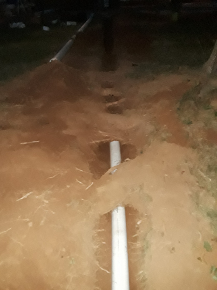 What type of drain pipe to use near tree-20180831_195200.jpg