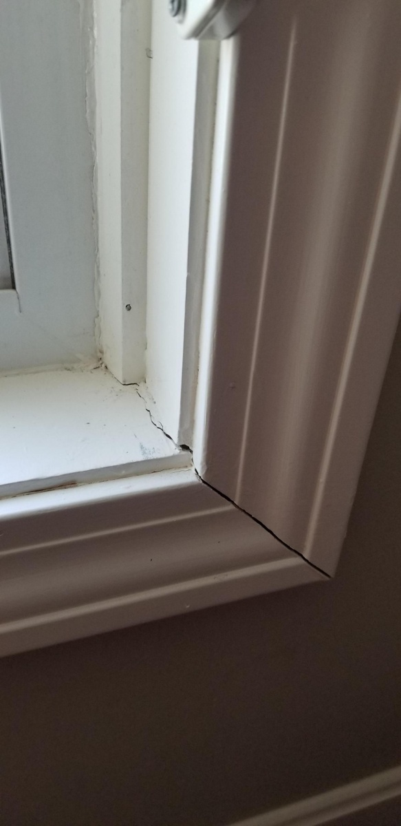 ... Interior Window Sill And Molding Is  Sagging 20180901_131654_1535822288859