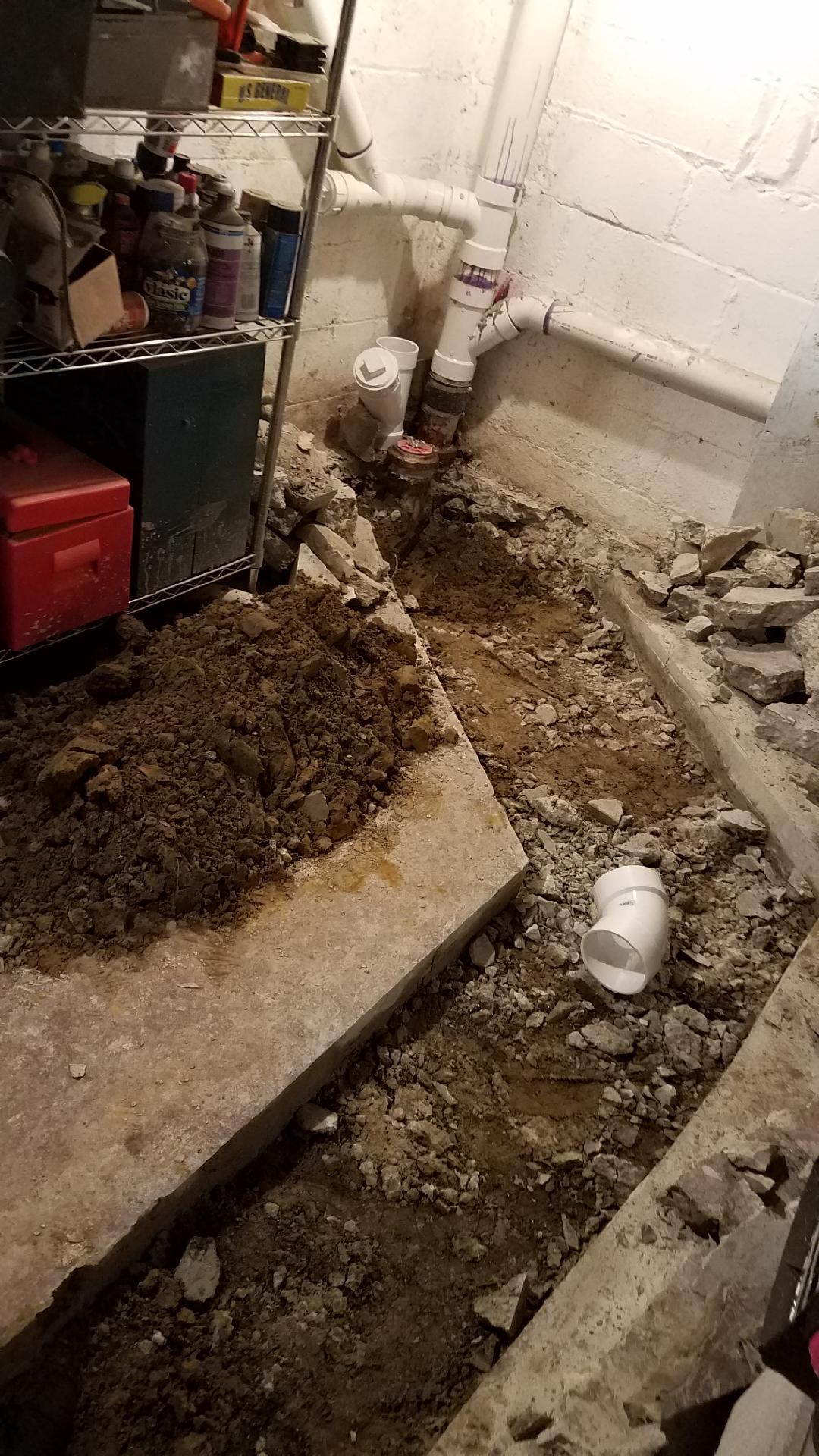 Replacing Iron Dwv Under Basement Floor Plumbing Diy