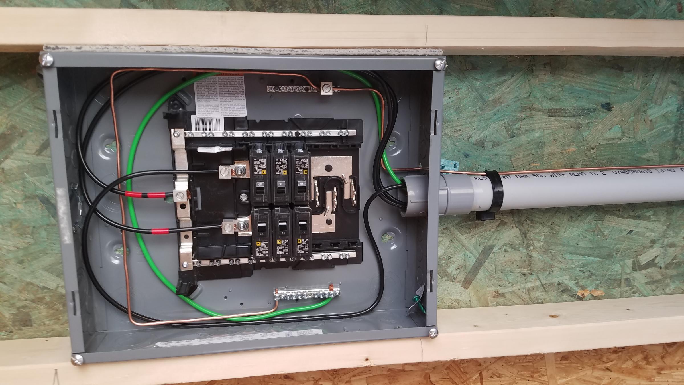 sub panel on detached garage electrical diy chatroom. Black Bedroom Furniture Sets. Home Design Ideas