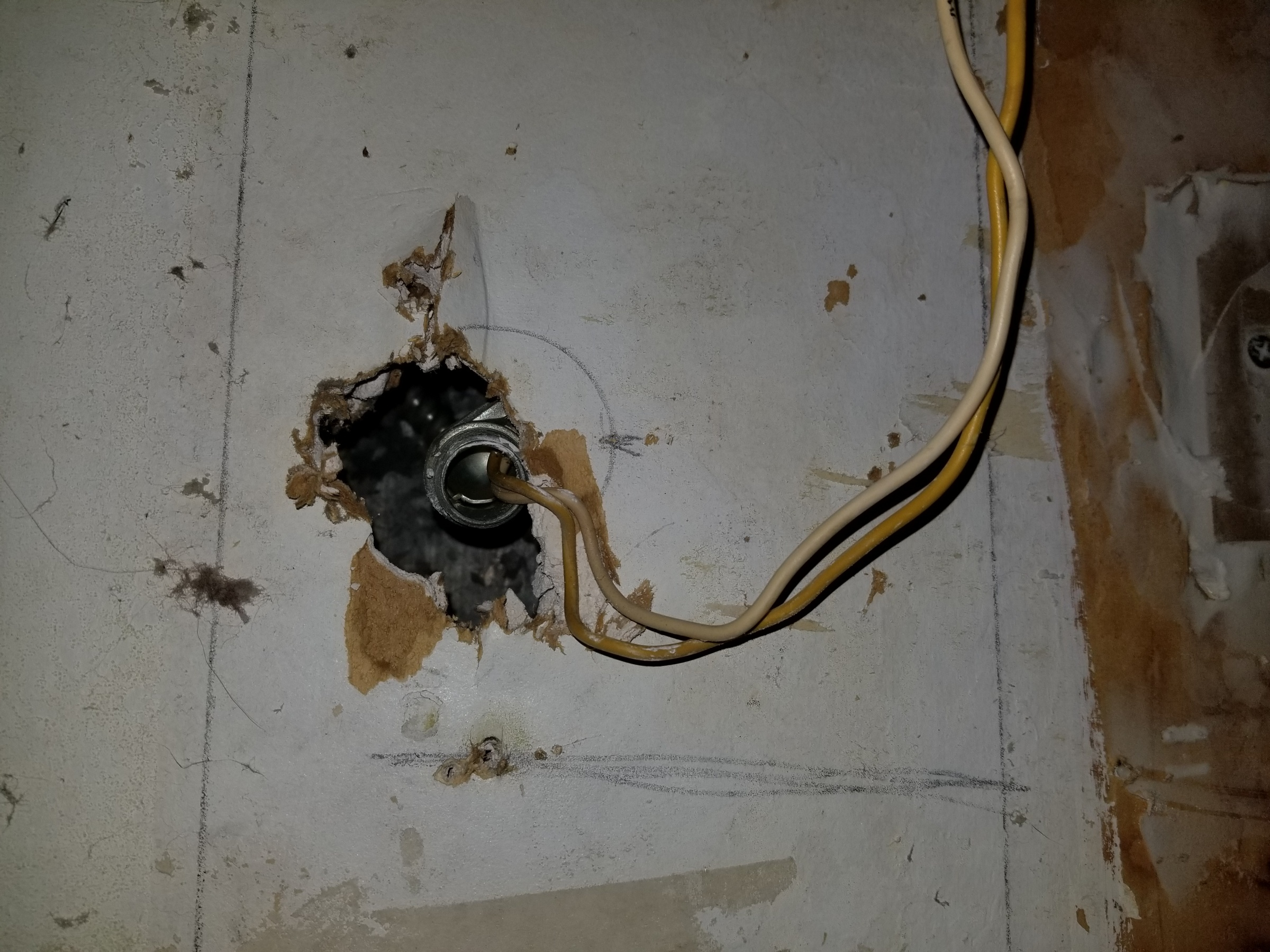 No Electrical Box What Do Now Electrical Diy