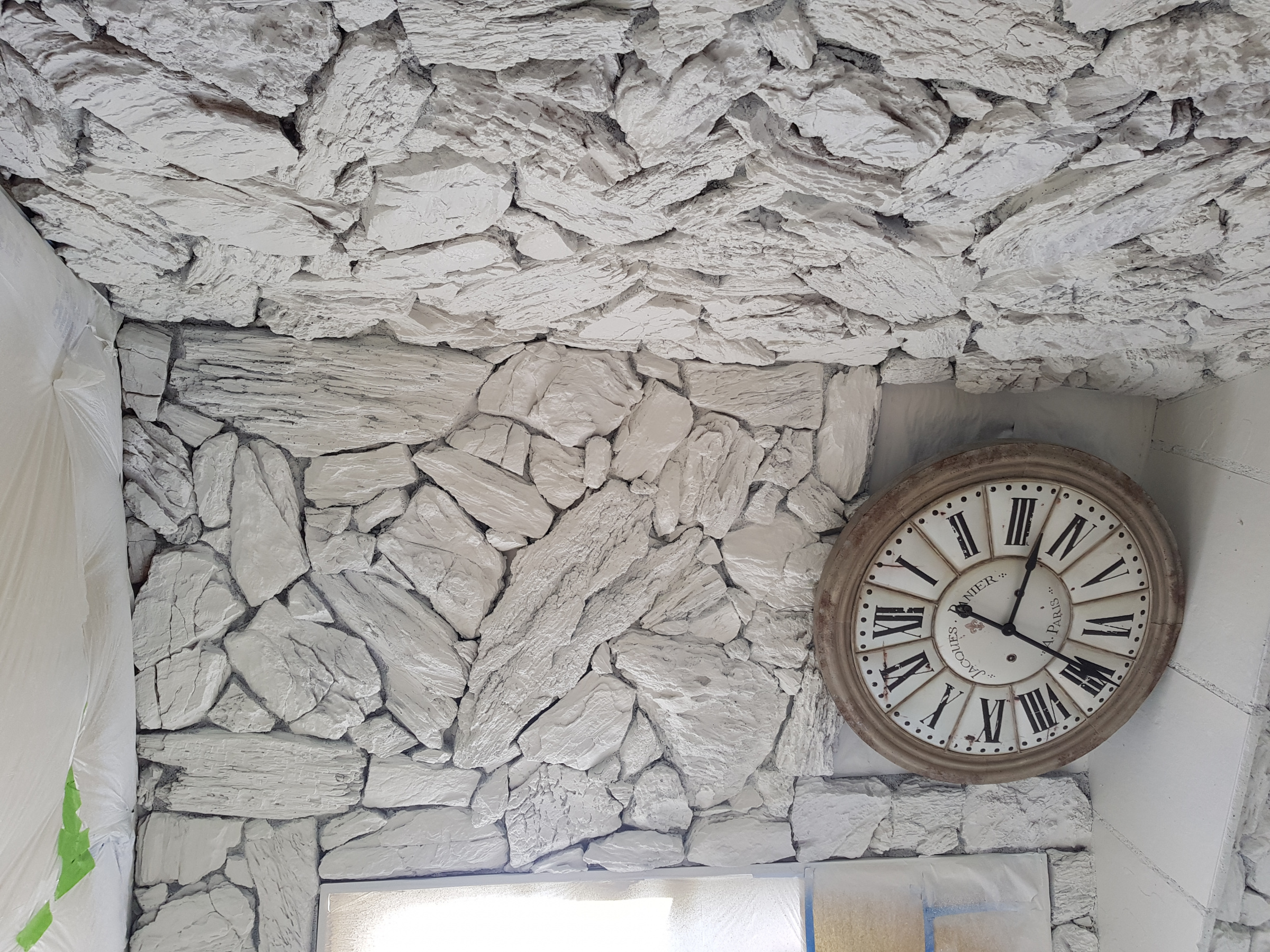 Painting interior lava rock wall-20190419_101454.jpg