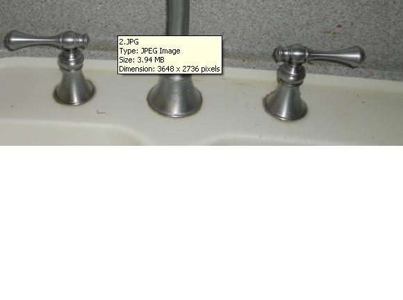 Two Handle Kitchen Faucet Invisible Screw Leaking Faucet