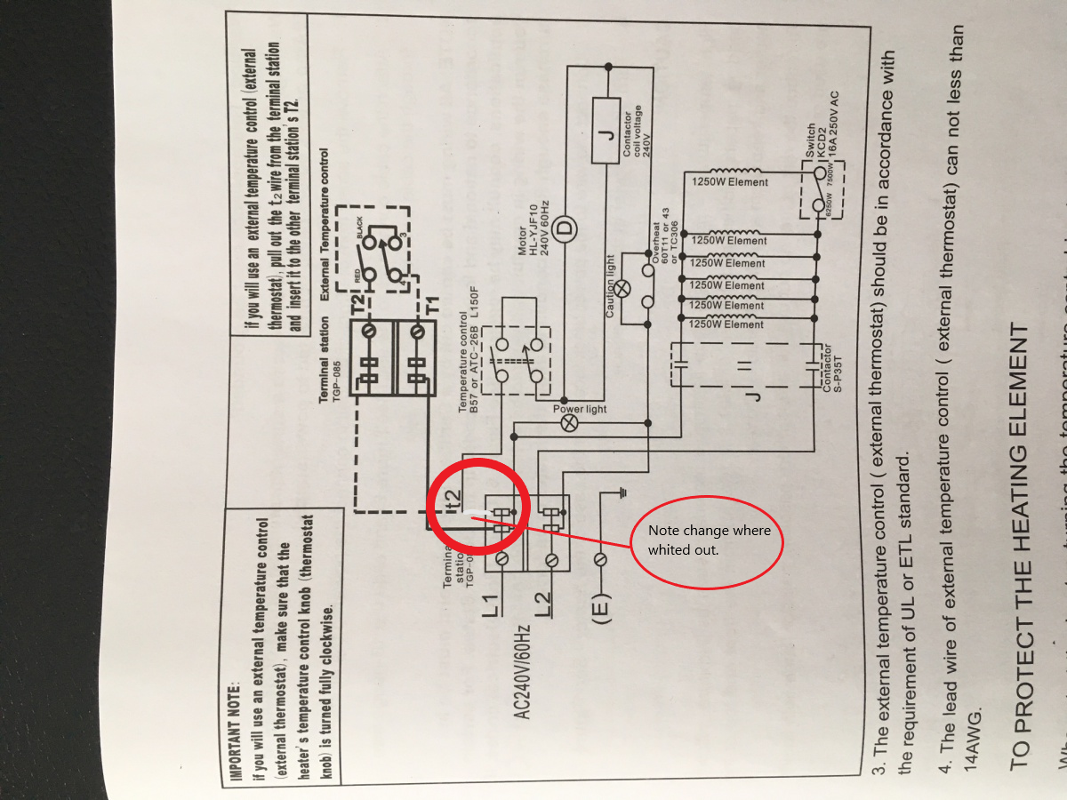 Garage Heater Thermostat Wiring  What Am I Missing  - Hvac