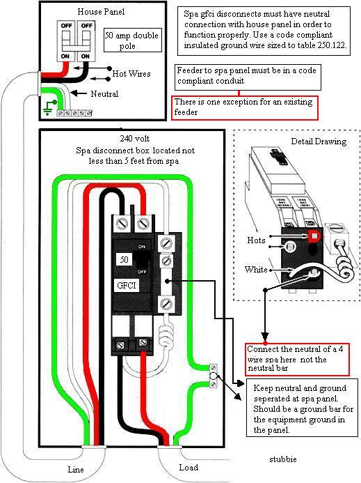 3 wire 220v gfci breaker wiring diagram  3  free engine image for user manual download Hot Tub 220 Wiring Diagram 50 Amp Receptacle Wiring-Diagram