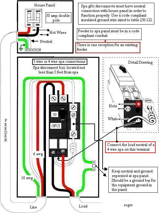 hot tub gfi breaker tripping electrical diy chatroom home how to wire a hot tub video at Wiring 6 Wire A Hot Tub
