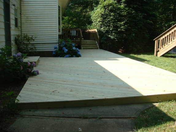Wonderful ... Ideas For Deck Over Concrete Patio And Beyond Pics  272 ...